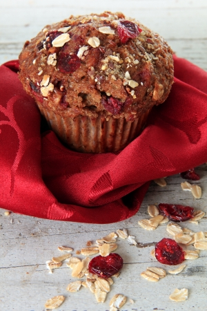 Cranberry bran muffin, also available in horizontal Stock Photo - 18427399