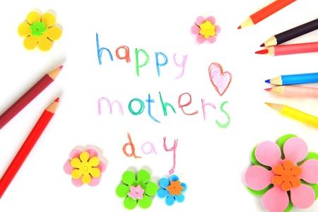Gelukkige moederdag kaart gemaakt door een kind