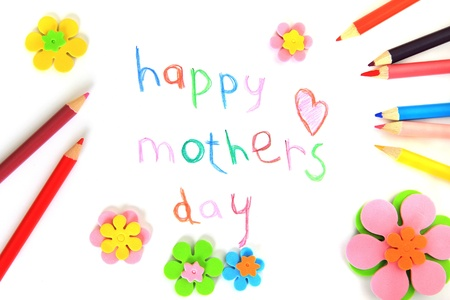 Happy mothers day card made by a child Stock Photo - 19103986