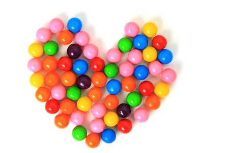 Candy heart on a white background   Stock Photo - 19103942