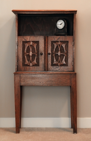 small table: Antique wooden hand carved cabinet