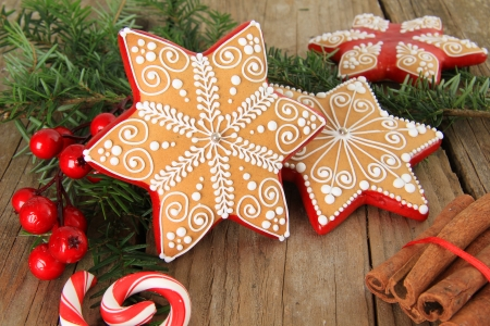 Christmas gingerbread sugar star cookie  Also available in vertical  photo