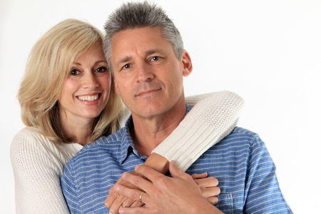 man s: Happy couple in their 50 Stock Photo