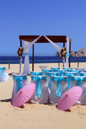 boda en la playa: Beach ceremonia de la boda creada en Cabo San Lucas, M�xico