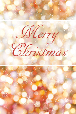 Merry Christmas card with holiday shiny lights and stars. Add your own text.