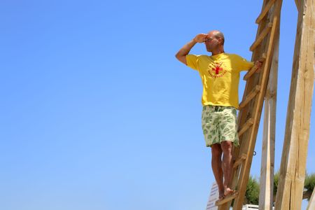 male lifeguard on duty photo