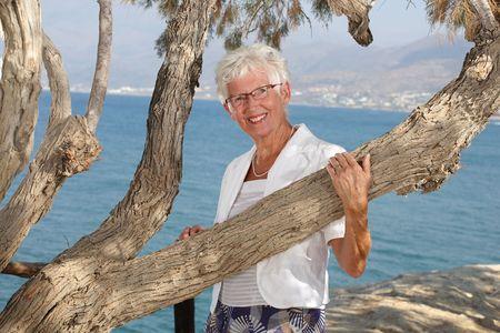 beautiful senior woman outdoors Stock Photo - 3462986