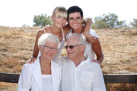 happy three generations family portrait Stock Photo - 3462958