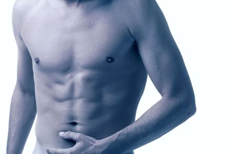 male torso isolated on white, cross-processed Stock Photo - 3544764
