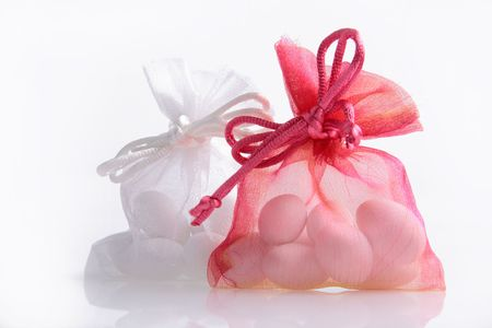 Just Married - wedding candy favors Stock Photo