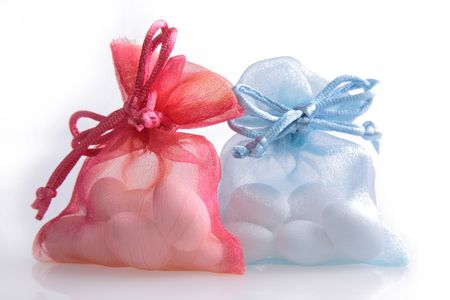 favour: Just Married - wedding candy favors Stock Photo