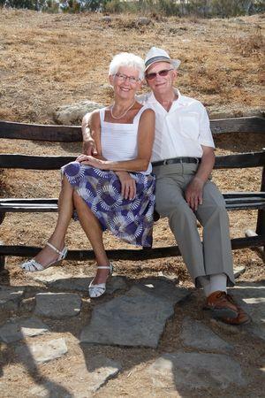 senior couple relaxing outdoors Stock Photo - 3784501