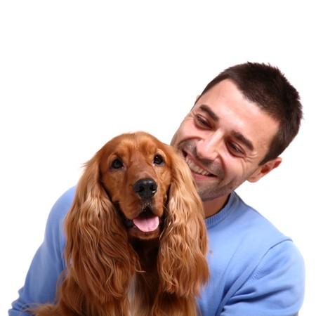 amigos abrazandose: mejor amigo del hombre