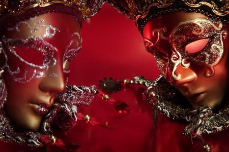 mascaras de carnaval: m�scaras de carnaval m�s ornamentada con textura de fondo met�lico