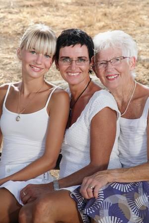 Three generations of female beauty Stock Photo