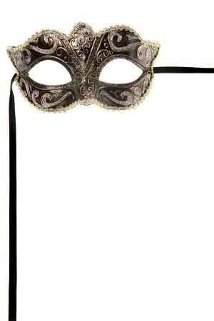 mascaras teatro: m�scara de carnaval sobre fondo blanco