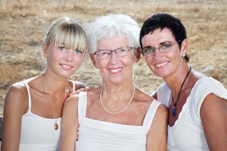three generations: three generations of women