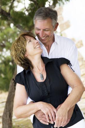 beautiful mature couple in love photo
