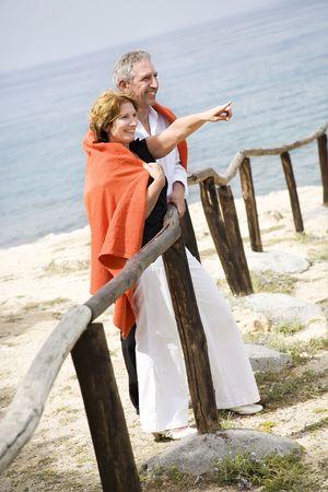 beautiful mature couple outdoors Stock Photo - 4915116