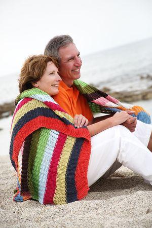 beautiful mature couple on holidays photo