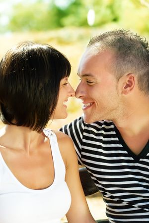Young happy couple in love photo