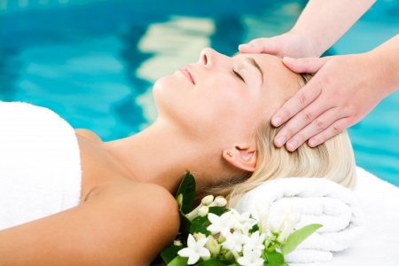 Beautiful young woman getting a spa treatment Stock Photo - 5655139