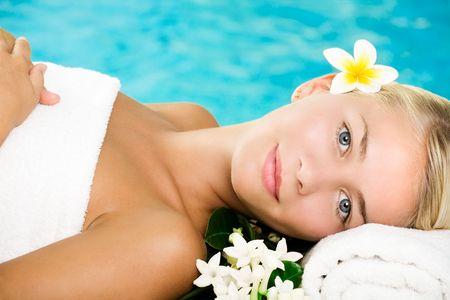 Beautiful young woman in spa Stock Photo - 5655138