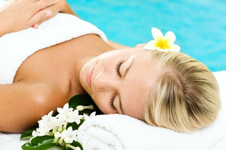 Beautiful young woman in spa Stock Photo - 5655160
