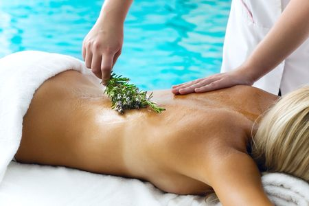 Beautiful young woman getting a spa treatment Stock Photo - 5655159