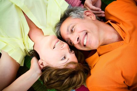 Mature couple in love photo