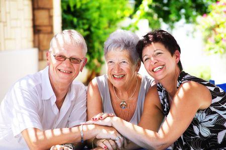mid life: Happy family