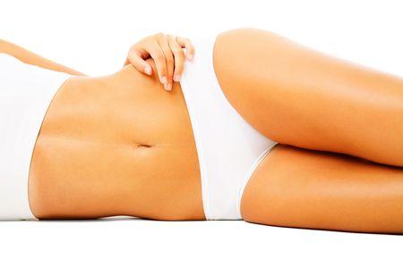 Beautiful female body. Isolated over white background. Stock Photo - 6518923