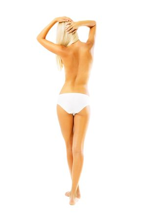 Beautiful female body. Isolated over white background. Stock Photo - 6518922