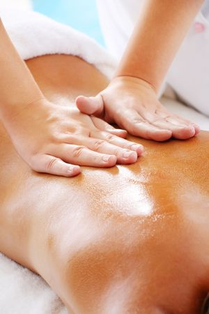Massage Techniques II - woman receiving professional massage. Stock Photo - 6666210