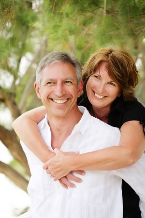 Beautiful mature couple having fun photo