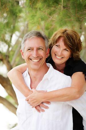 Beautiful mature couple having fun Standard-Bild