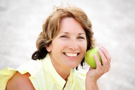 Beautiful healthy mature woman photo