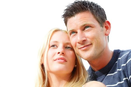 Close-up portrait of a young happy couple. Shallow DoF. Stock Photo - 7016802
