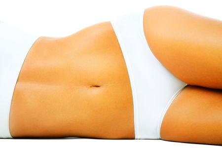 Beautiful slim female body. Isolated over white background. Stock Photo - 7168140