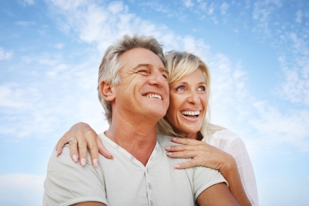 Heureux couple d'âge mûr extérieur Banque d'images