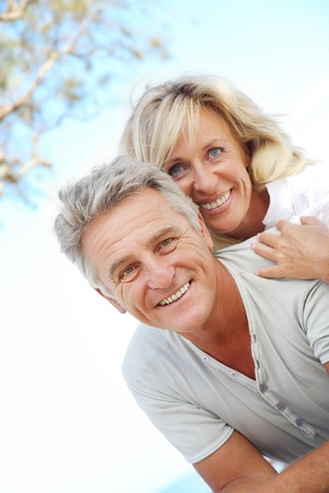 Happy mature couple outdoors Stock Photo - 8667386