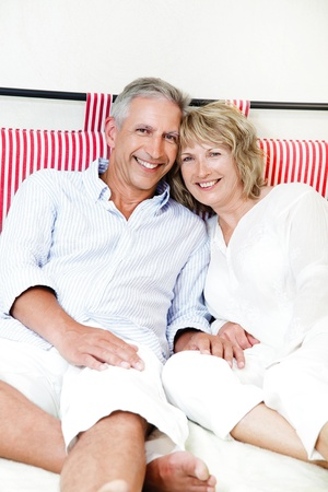 mid adults: Happy mature couple at home Stock Photo