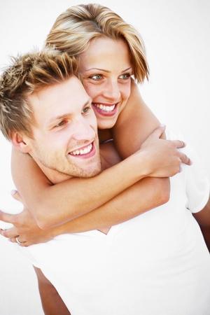 Jeune couple amoureux Banque d'images