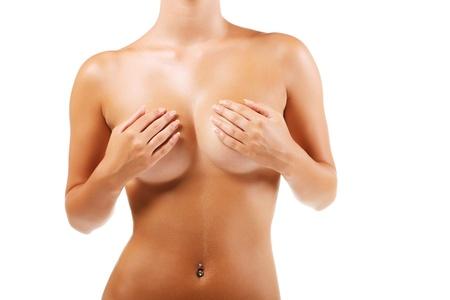 Beau corps féminin isolé sur fond blanc Banque d'images