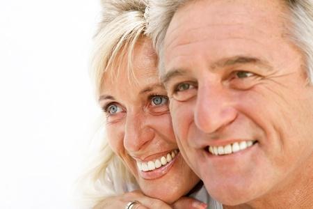 Portrait of a happy romantic couple.