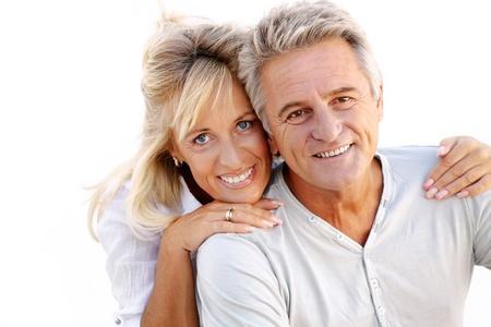 Portrait d'un couple heureux romantique. Banque d'images