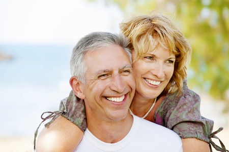 mature couple: Portrait of a happy mature couple outdoors