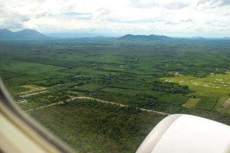 bird's eye view: birds eye view shot of Southern Asia