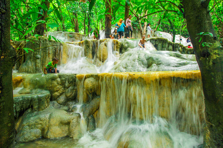 southeast: The waterfall at Southeast Asia, Southern Thailand