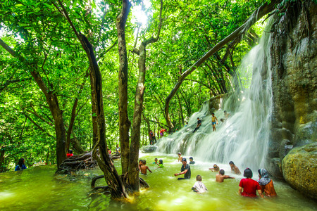 southern of thailand: The waterfall at Southeast Asia, Southern Thailand
